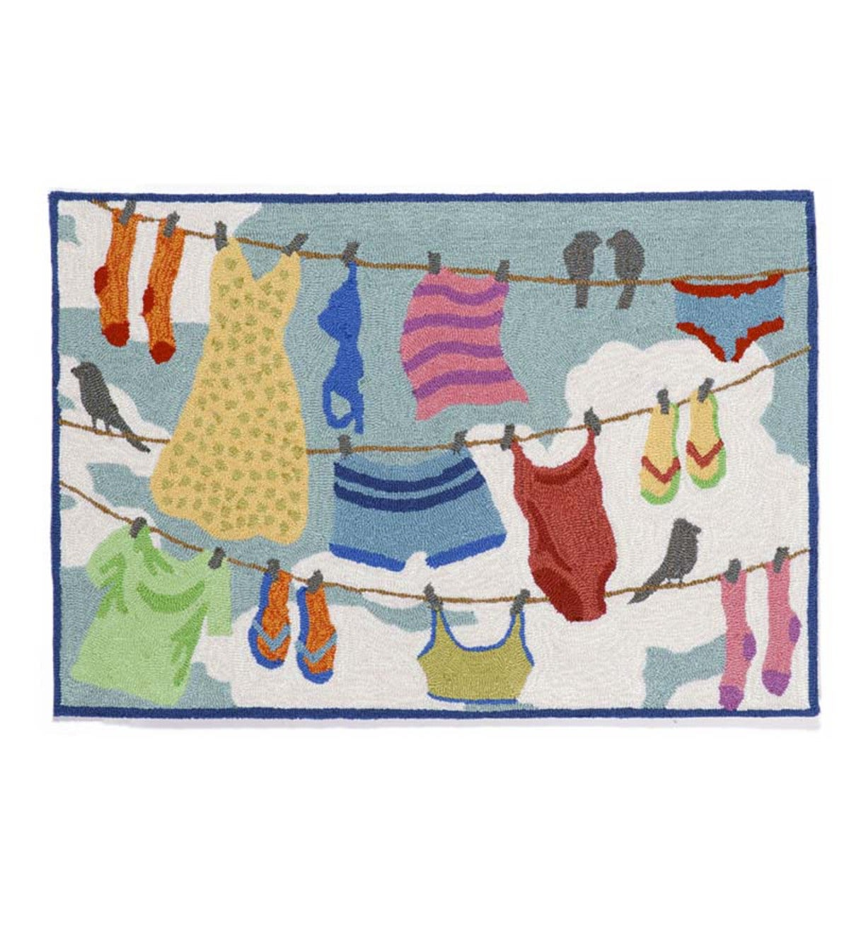 Clothes Line Indoor/Outdoor Rug, 24