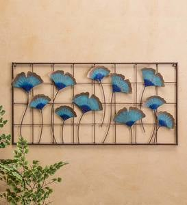 Handcrafted Metal Ginkgo Leaf Wall Art