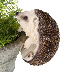 Animal Railing or Flower Pot Hangers - Hedgehog
