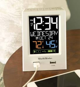 Digital Alarm Clock with Dual USB Ports