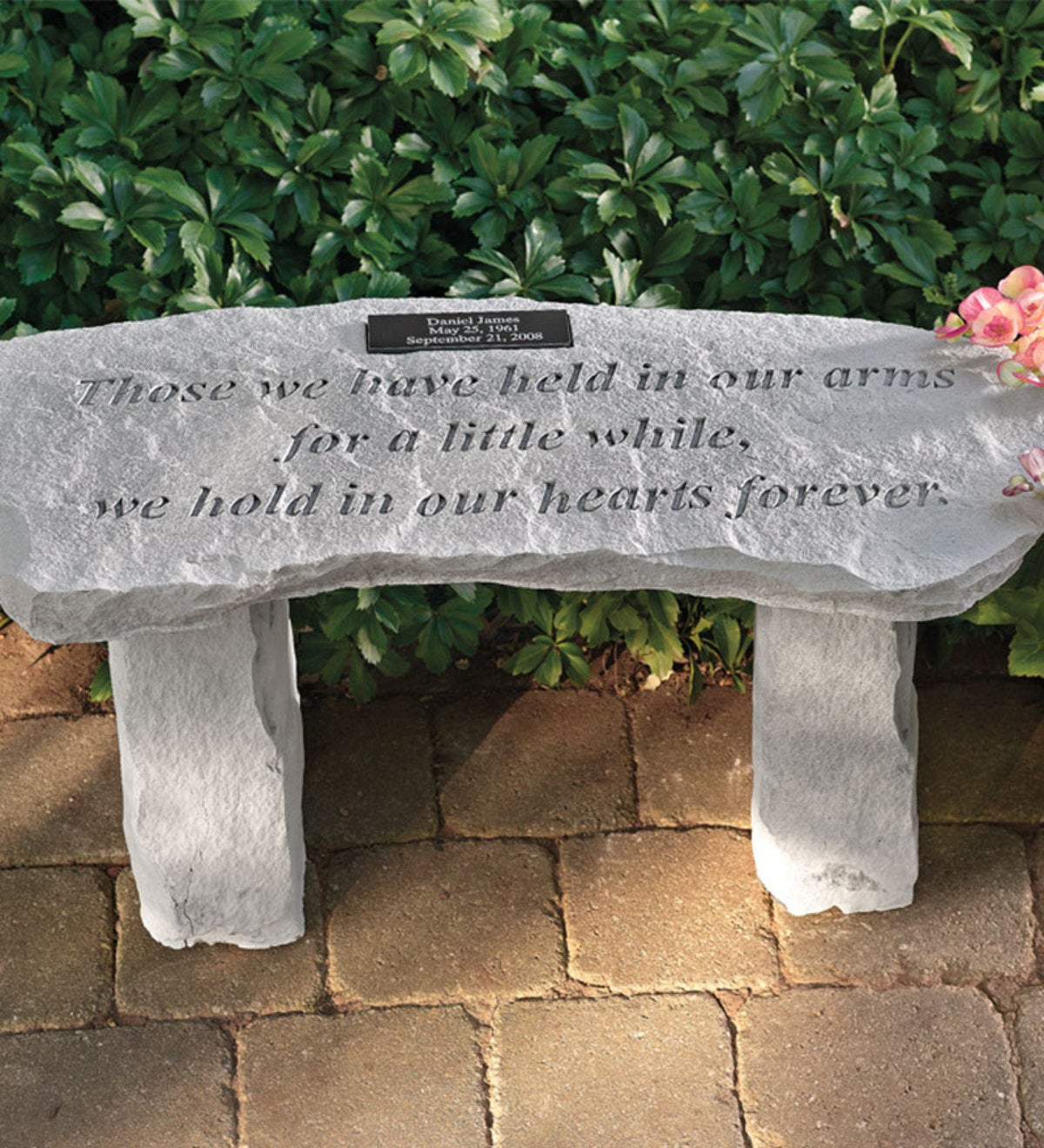 Personalized Memorial Garden Bench - Forever