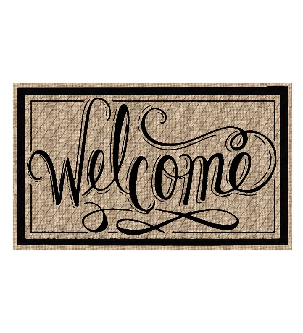 Welcome Embossed Script Mat