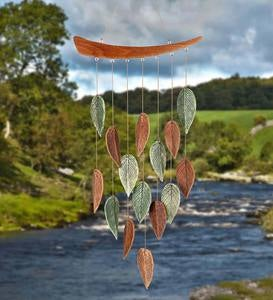 Ceramic Leaves Wind Chime