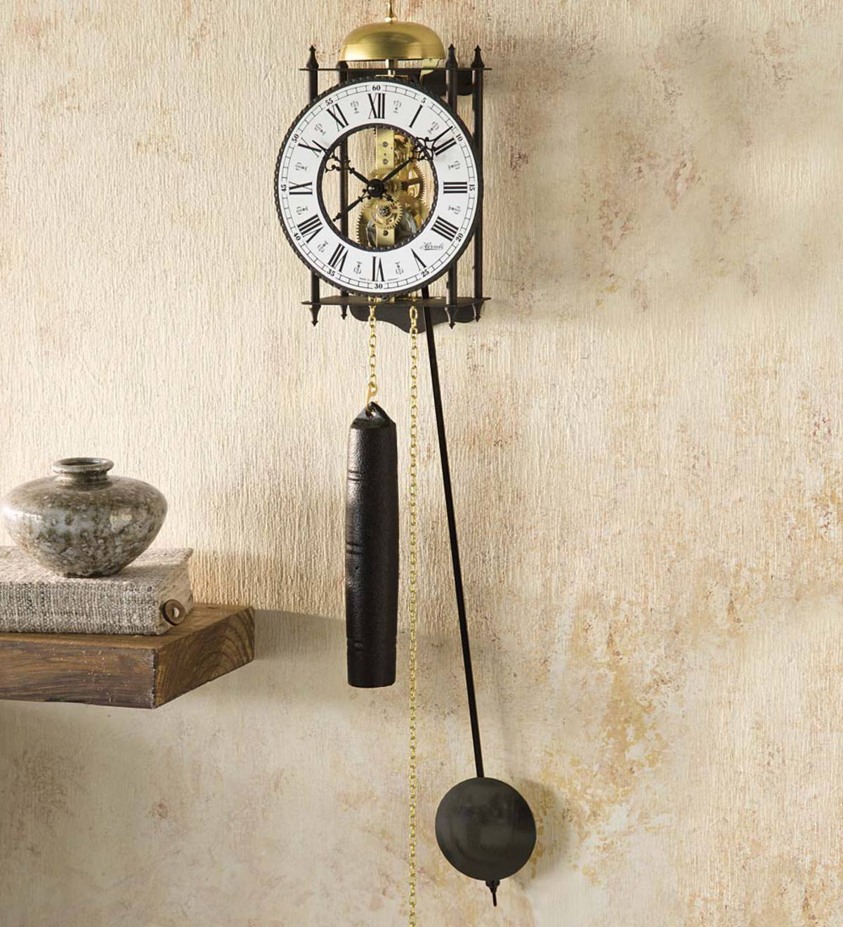 Hermle® Iron Skeleton Wall Clock