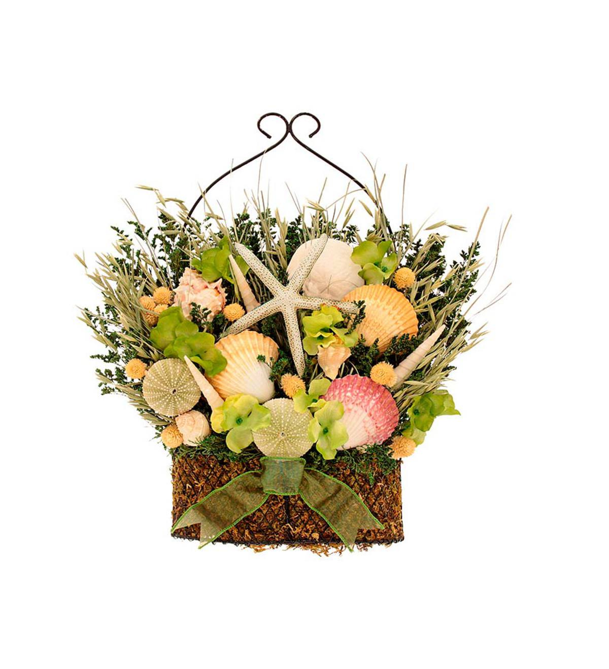 Seashell Basket Wreaths Home Decor For The Home Wind And Weather