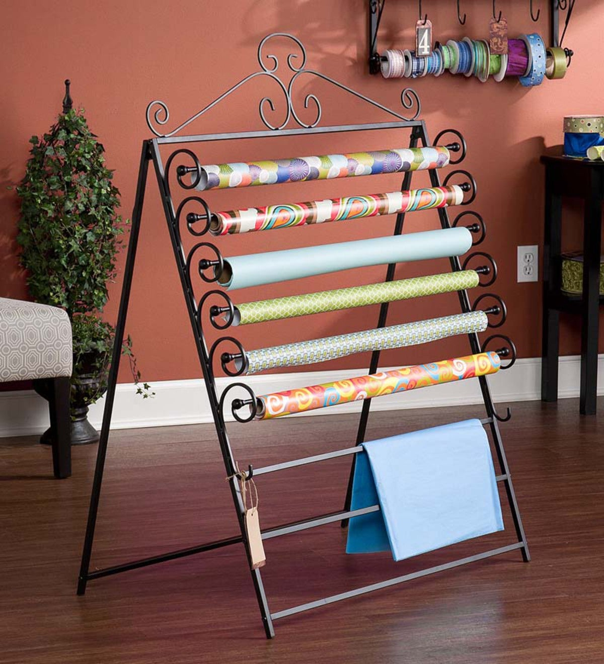 Craft Storage Rack and Gift Wrap Organizer