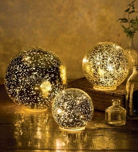 Glass Ball Lights, Set of 3