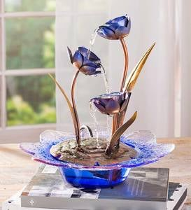 Purple Lily Tabletop Fountain