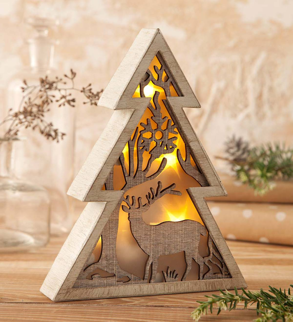 Lighted Tabletop Cutout Tree