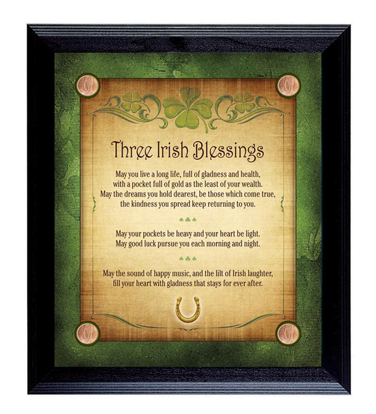 Three Irish Blessings Wall Art