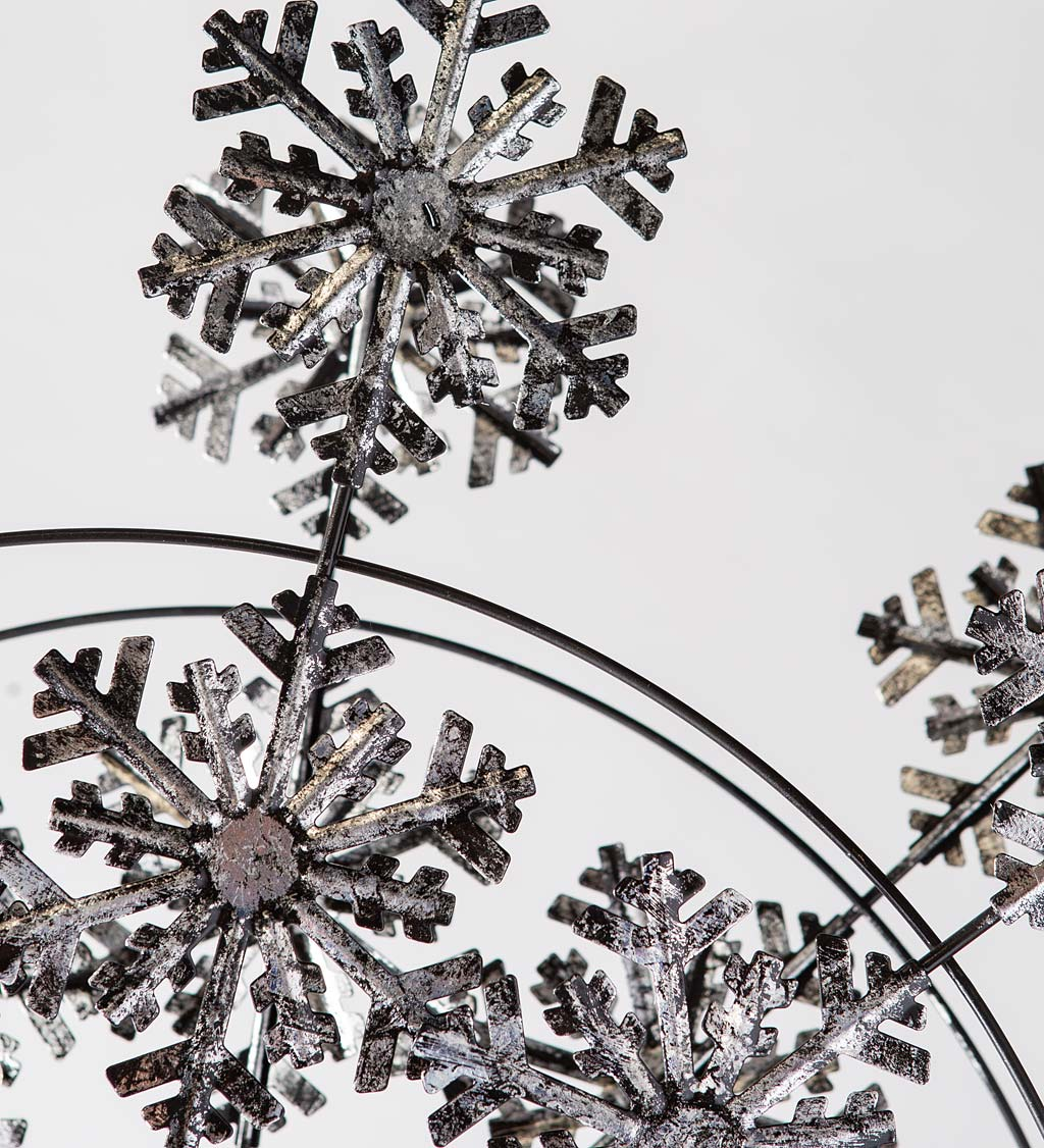 "<p class=""p1"">92""-High Solar Lighted Double Snowflake Wind Spinner"