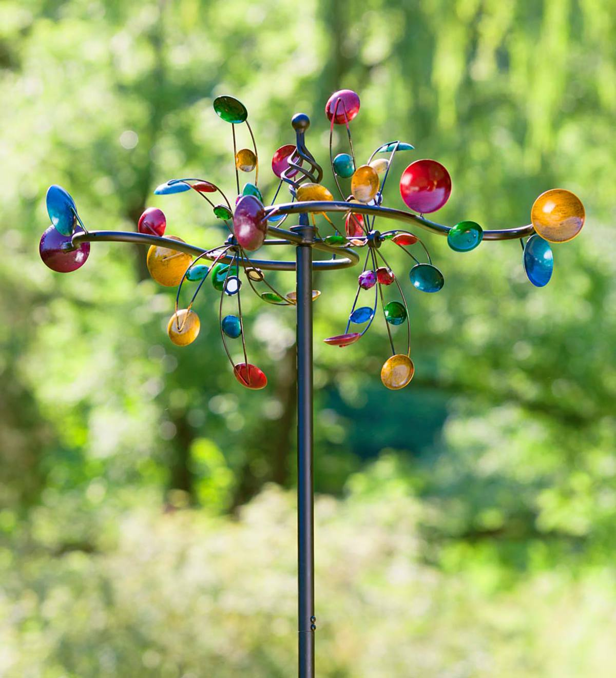 Multi-Colored Multi-Directional Metal Wind Spinner