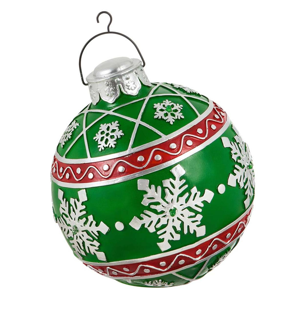 Lighted Indoor/Outdoor Decorative Ornament  - Green