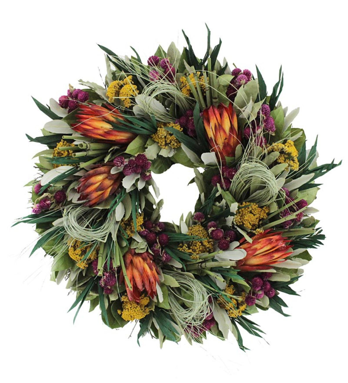 Tropical Summer Floral Wreath Wind And Weather