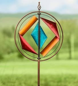 Metal Geometric Wind Spinner