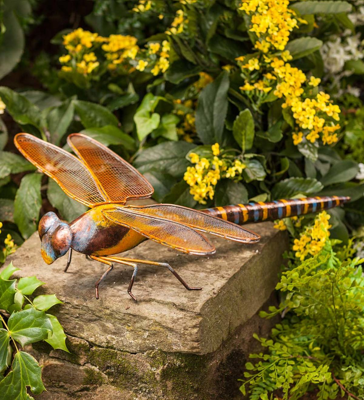 1 Pair of Metal Dragonfly Wall Planter Dragon fly Wall Mounted Plant Holders