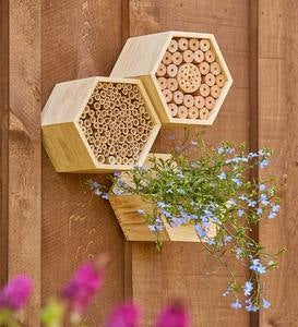 Wooden Leafcutter Bee Habitat