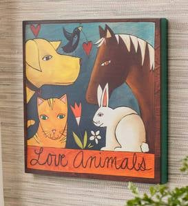 Love Animals Wall Art