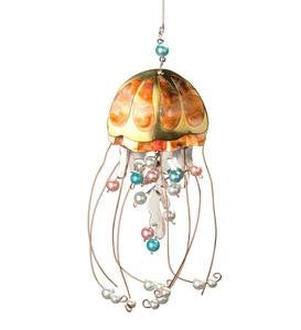 Tri-Metal Jellyfish Ornament