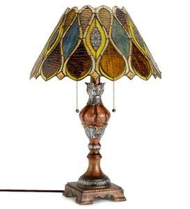 Amber Stained Glass Table Lamp