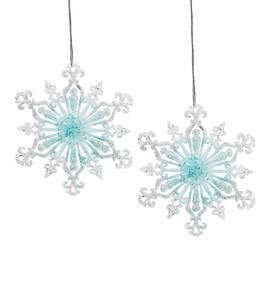 Acrylic Snowflake Christmas Ornaments, Set of 2