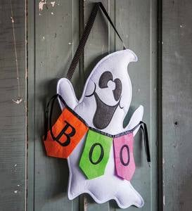 Halloween Boo Ghost Door Decor Hanging Accent