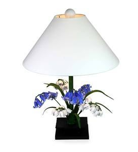Bluebell and Lily Metal Table Lamp