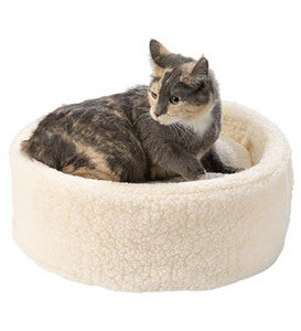 Small Bolster Pet Bed - Blue