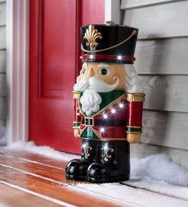 Indoor/Outdoor Lighted Shorty Nutcracker Holiday Statue