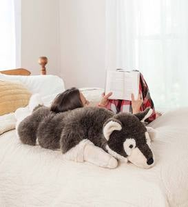 Plush Siberian Husky Body Pillow