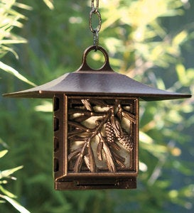 Pinecone Suet Feeder - Bronze