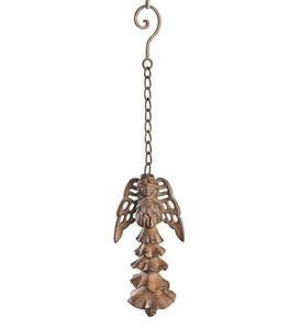 Weather-Resistant Hand-Cast Iron Angel Wind Chime