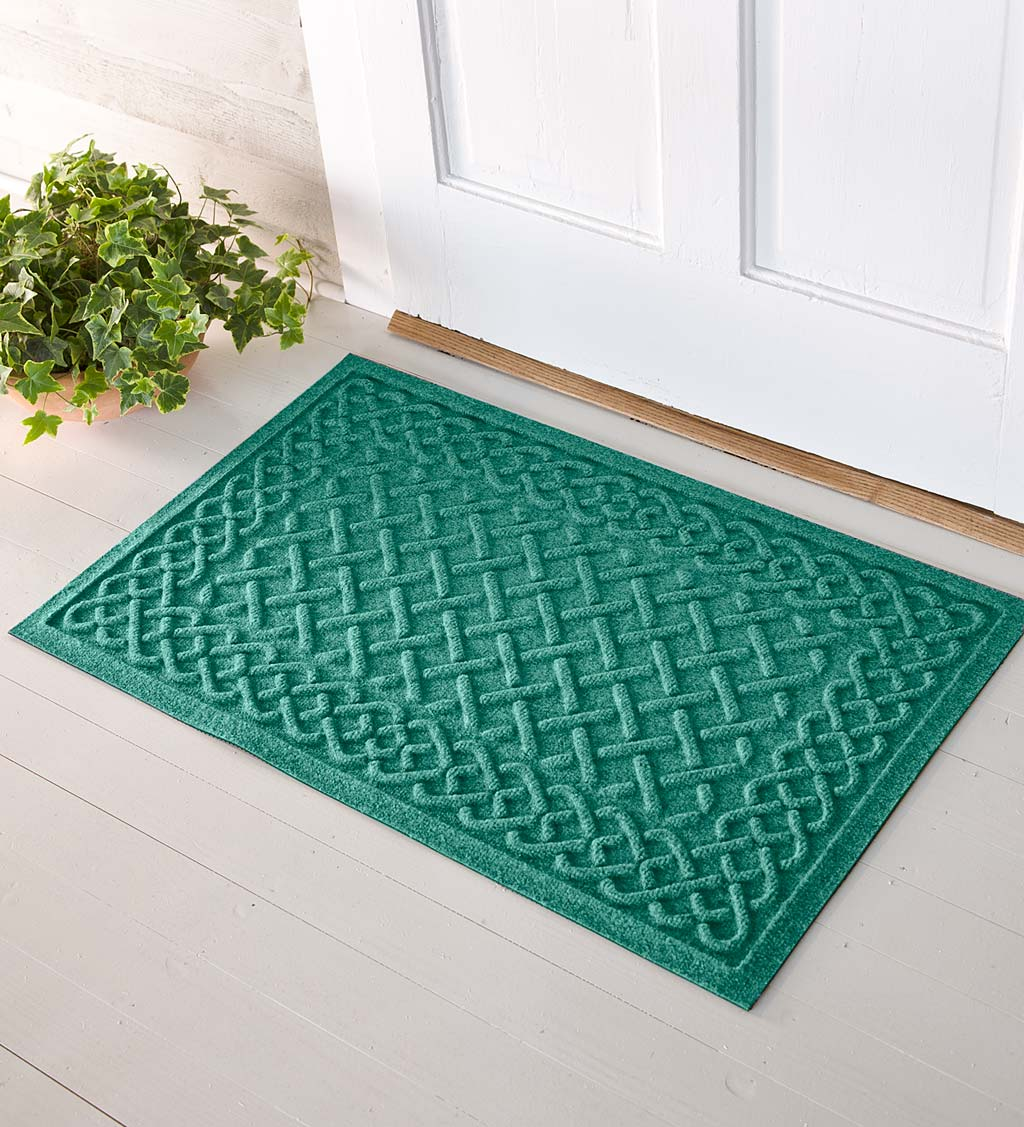 Waterhog Cable Weave Doormat, 3' x 7' - Navy