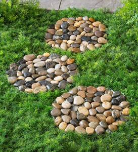 Natural River Rock Stepping Stones, Set of 3