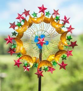 Stars and Crescent Moons Metal Wind Spinner
