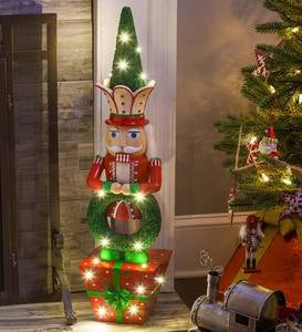 Lighted Nutcracker Statue