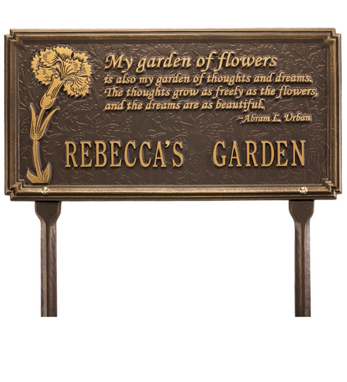 Custom Poem Plaque | Personalized Garden Plaques | Landscaping ...