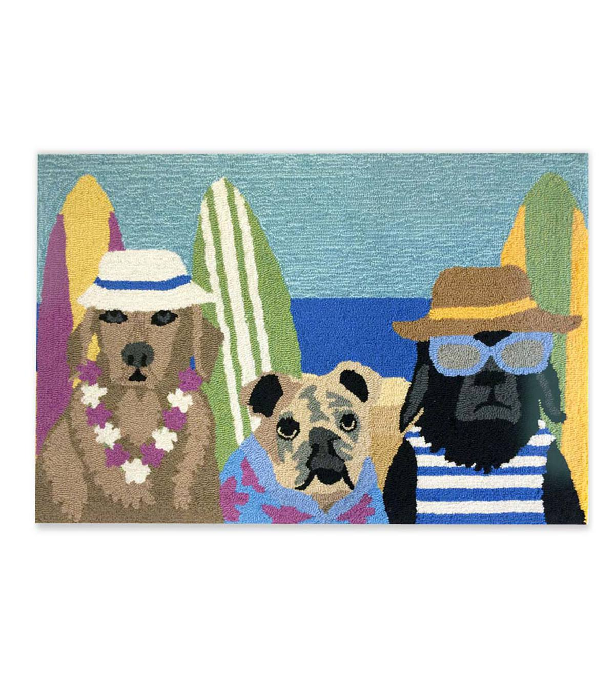 Beach Patrol Dogs Accent Rug, 30