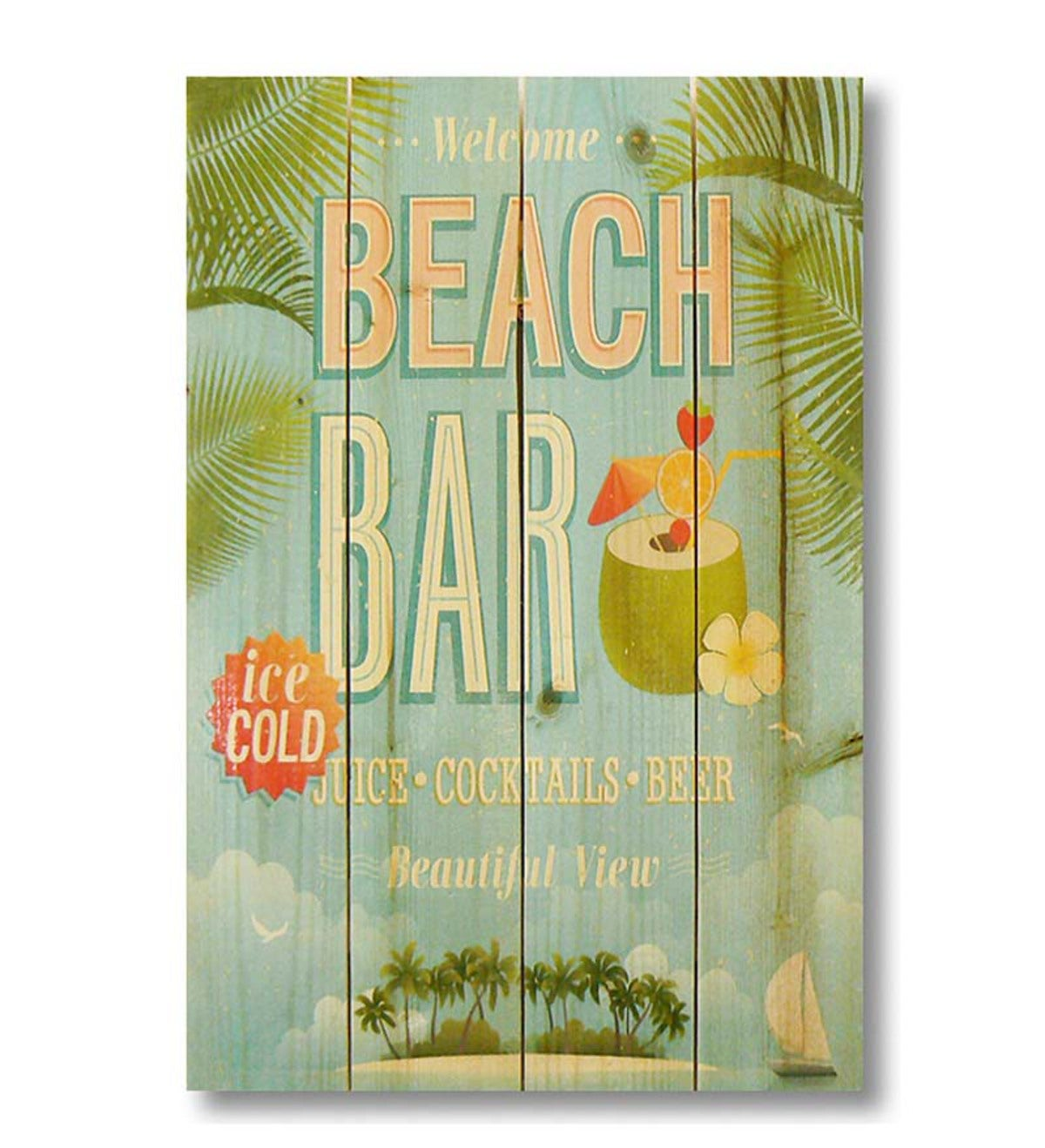 Handcrafted Beach Bar Wall Sign by Wile E. Wood Art™ | Seaside Home ...