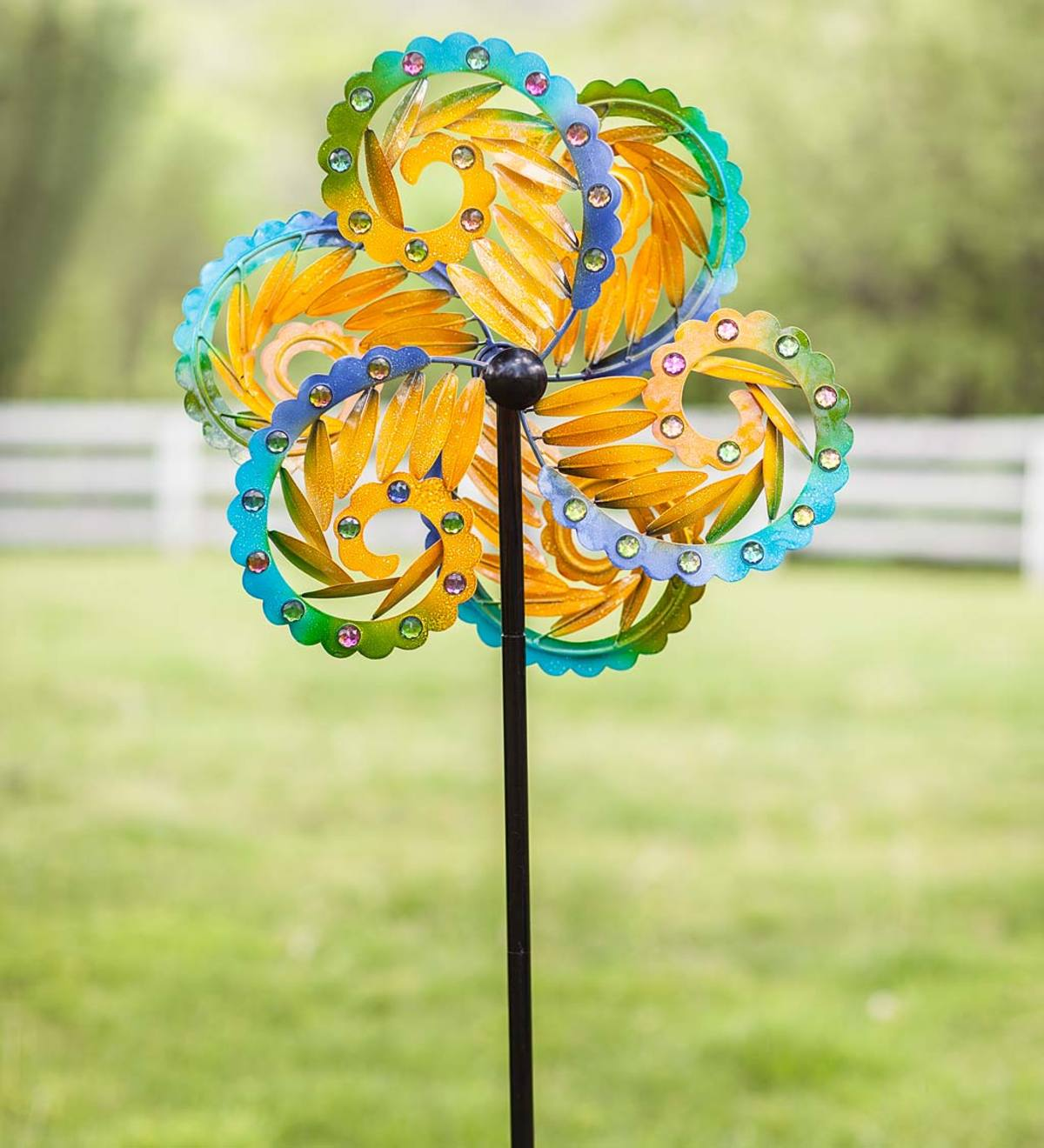 Colorful Feathery Spiral Wind Spinner