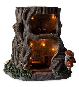 Two-Story Lighted Fairy House