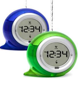 Digital Water Powered Clock with Alarm - Blue