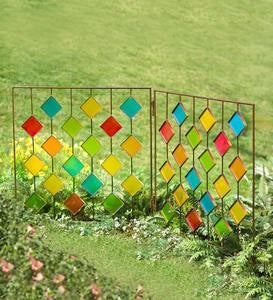 Metal and Plexiglass Two-Panel Stake