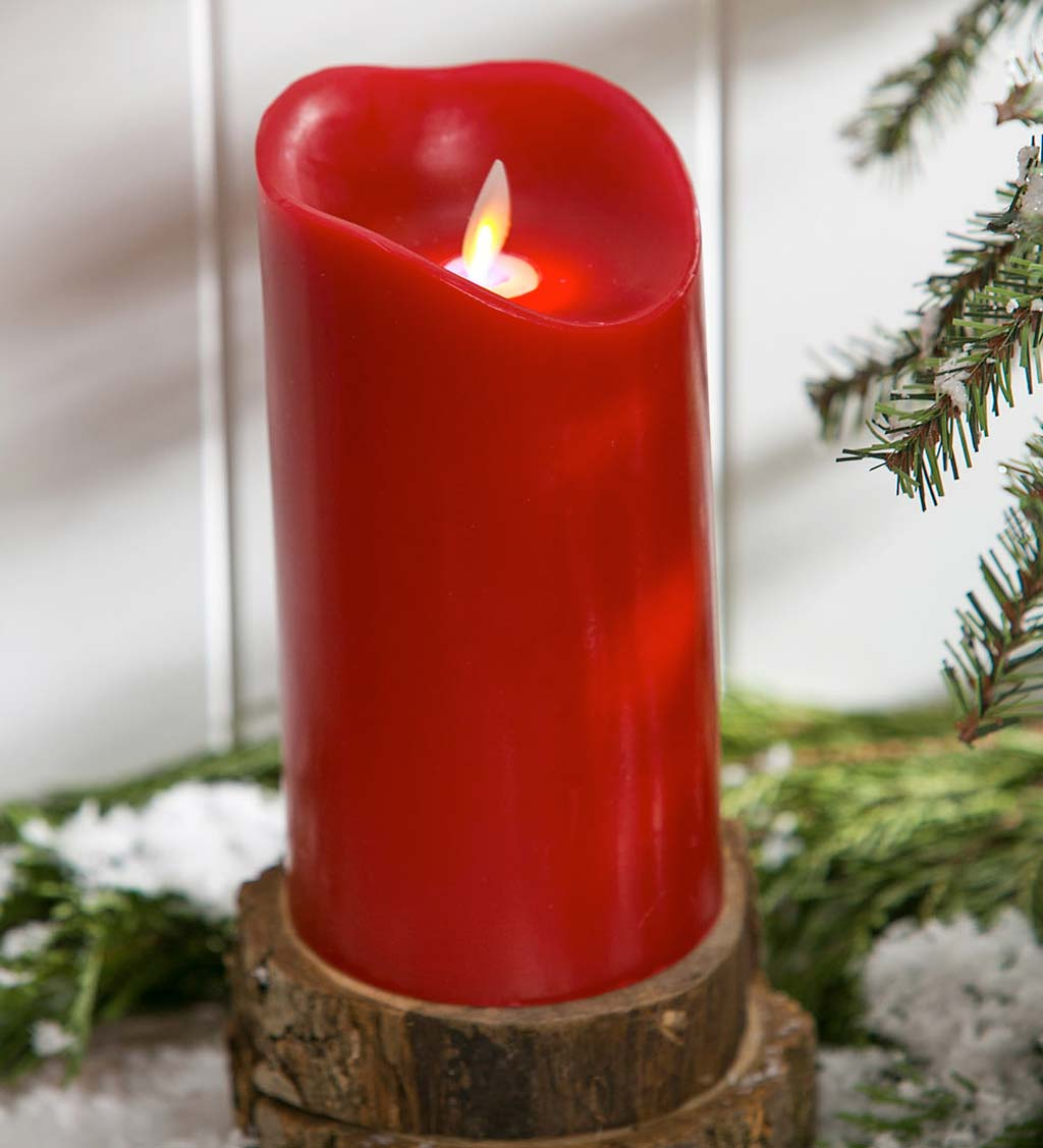 Scented LED Pillar Candle with Moving Wick - Eucalyptus