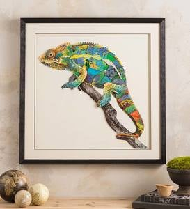 Handcrafted Chameleon Wall Art