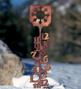 Handcrafted Copper-Colored Snow Gauge and Extension