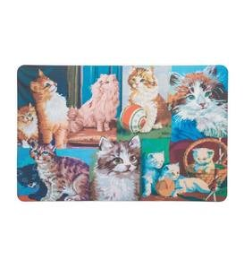 Indoor/Outdoor Cat Tapestry-Pattern Neoprene Mat