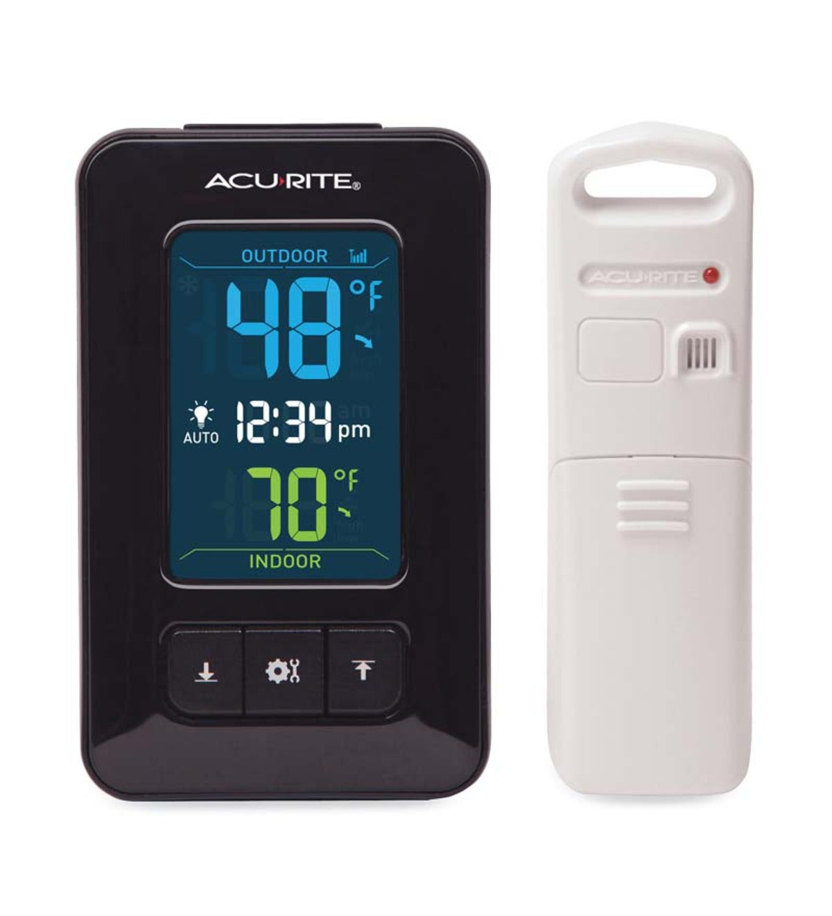 Wireless Thermometer With Color Display