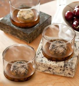 Whiskey Rocks and Glasses Set