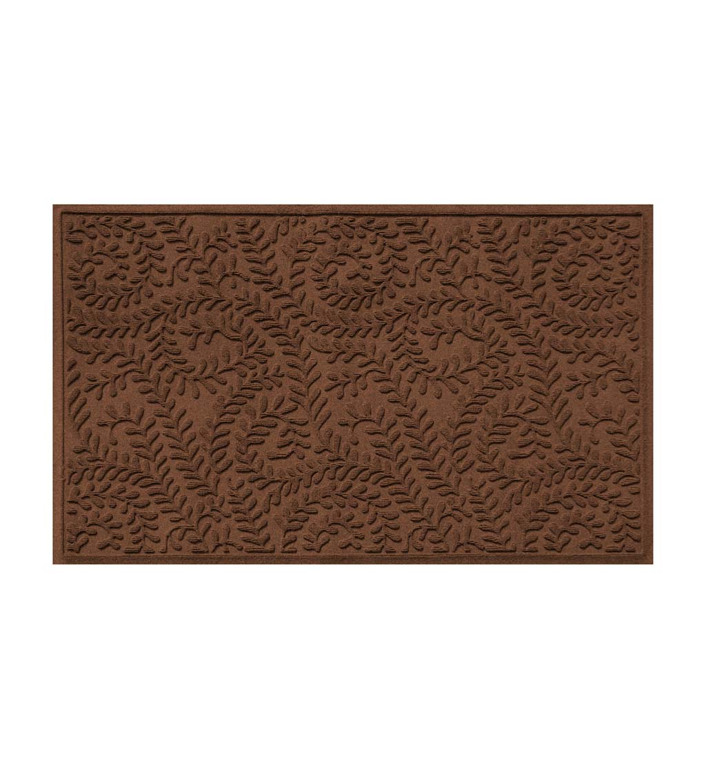 Waterhog Indoor/Outdoor Leaves Doormat, 3' x 5' - Dark Brown